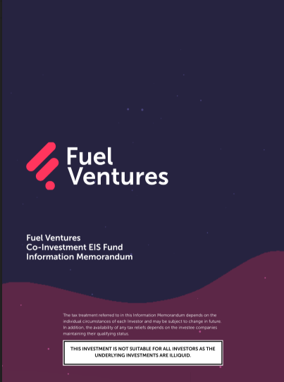 Fuel Ventures Co-Investment Fund IM Cover