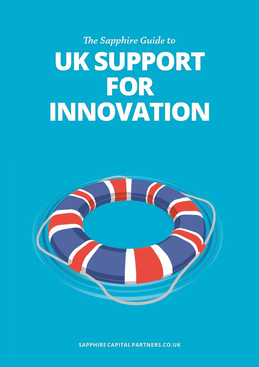 The Sapphire Guide to UK Support for Innovation eBook cover